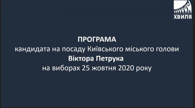 Програма мера Петрука Віктора
